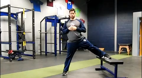 Baseball/Softball Training: Elevated Side Lunge