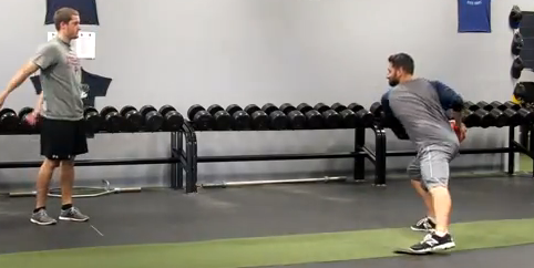 Exercise of the Week: Side Slides w/ MB Throw